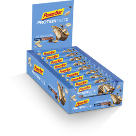 PowerBar Protein Nut2 Riegel Box Milk Chocolate Peanut 18 x 2 x 22,5g